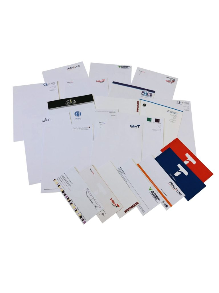 Printed Business Stationery, Letterheads, Continuation Paper and Compliment Slips