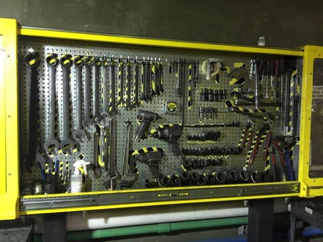 5s Tool Cabinets Pegboard Storage Shadow Board Tool