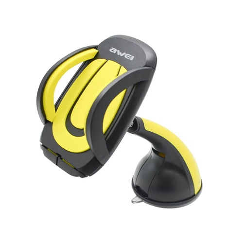 awei_x7_suction_cup_car_holder_yellow