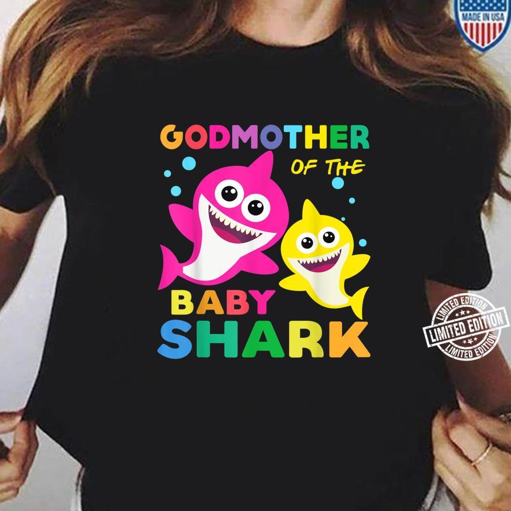 Godmother Of The Baby Shark Birthday Shirt Godmother Shark Shirt