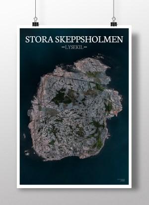 Poster av holmen Stora skeppsholmen
