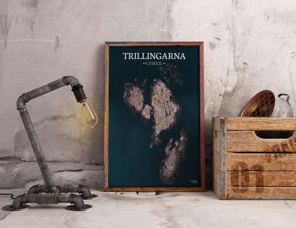 Poster av holmen Trillingarna