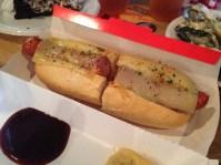 Chicken cheese hotdog