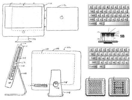 Apple Patent office : macbook in iMac