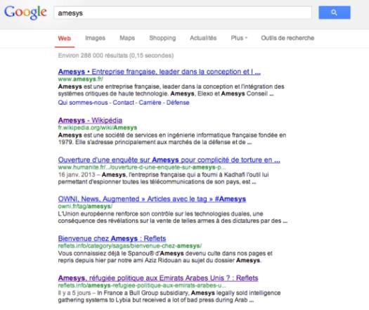 amesys google search