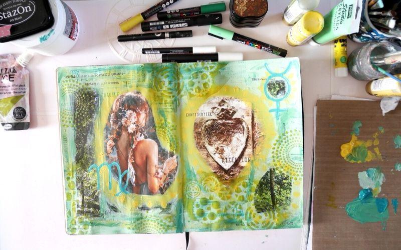 Dicté de page pour Art journal