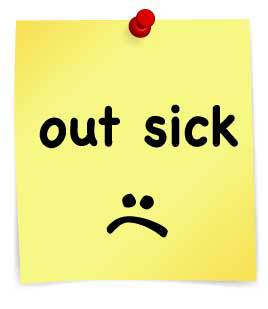 out-sick-post-it