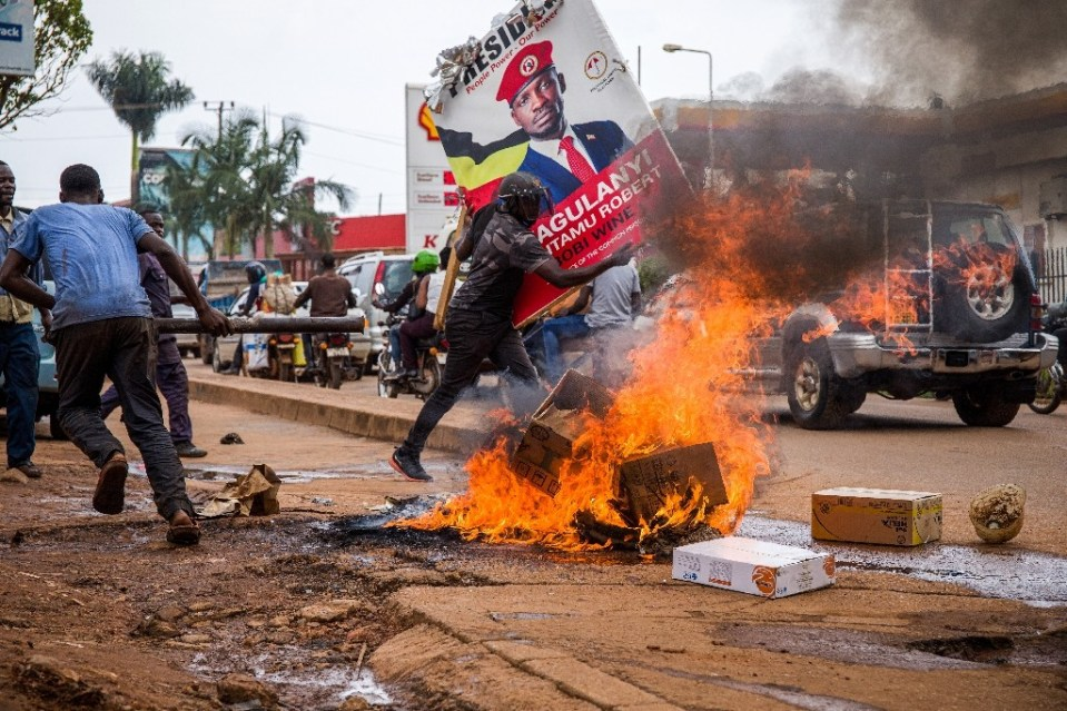 Violence erupted after opposition leader Bobi Wine, President Yoweri Museveni's main opponent in upcoming elections, was arrested - Badru KATUMBA / ©AFP