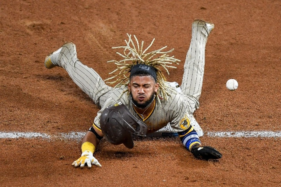 Home sweet home: Fernando Tatis Jr. has agreed a 14-year deal to remain in San Diego, the longest contract in baseball history Dustin Bradford GETTY IMAGES NORTH AMERICA/AFP