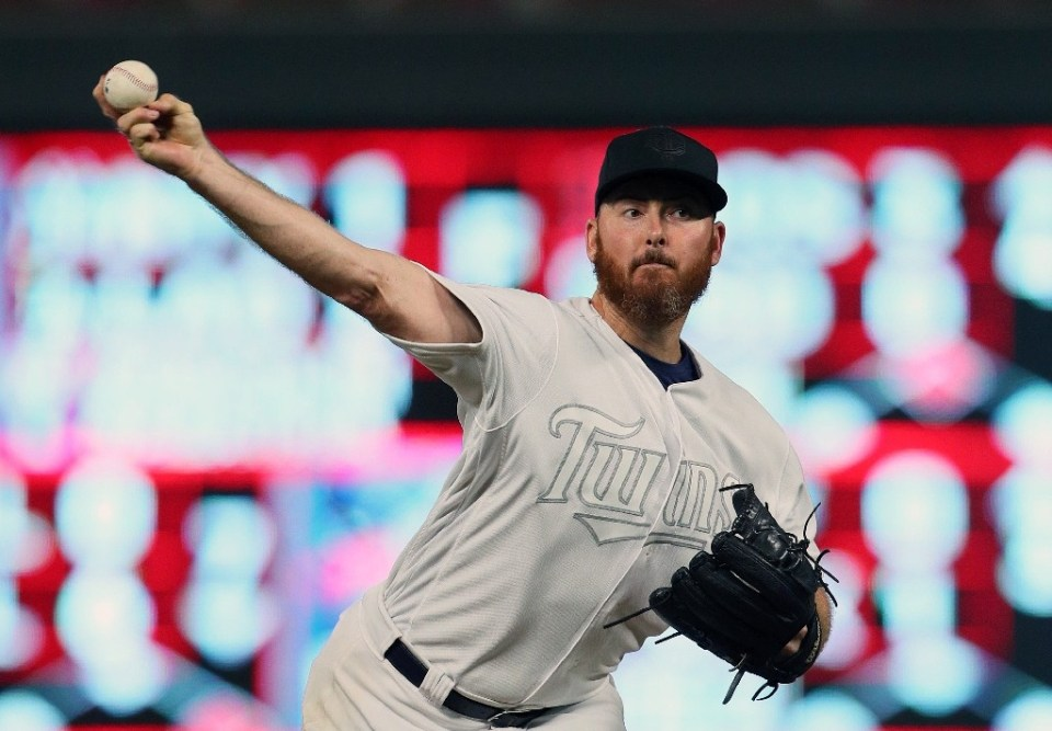 Sam Dyson, here pitching for the Minnesota Twins in 2019, has been suspended for an entire season for violating Major League Baseball's domestic violence policy - Adam Bettcher / ©AFP
