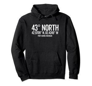 43 degrees north hoodie