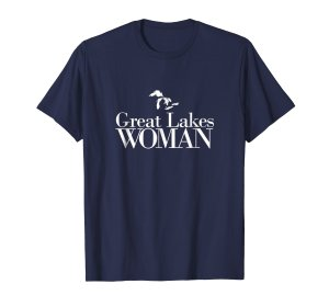 great lakes woman tee shirt-- navy