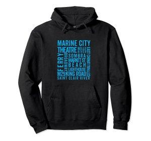 marine city hoodie--black