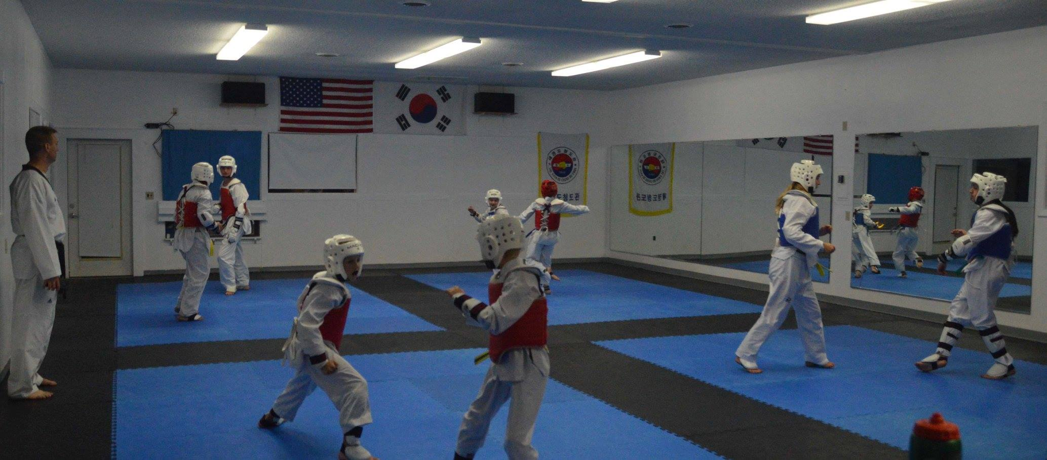 sparring at the Burlington Blue Wave