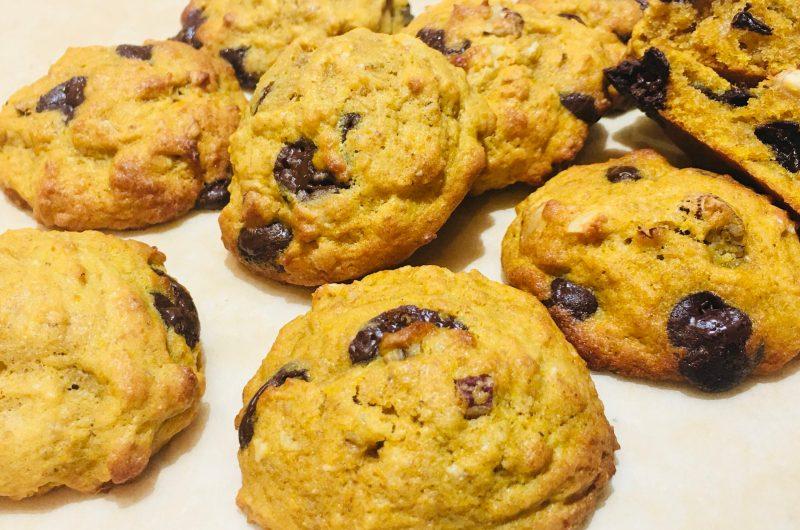 オートミールとチョコチップかぼちゃクッキー