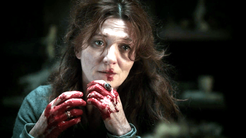 Catelyn's bloody hands