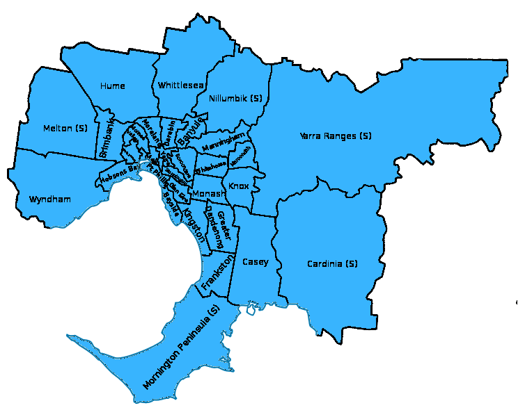 Bluey Mobile Podiatry Service Areas Melbourne