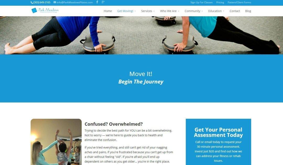 Park Meadows Pilates Website