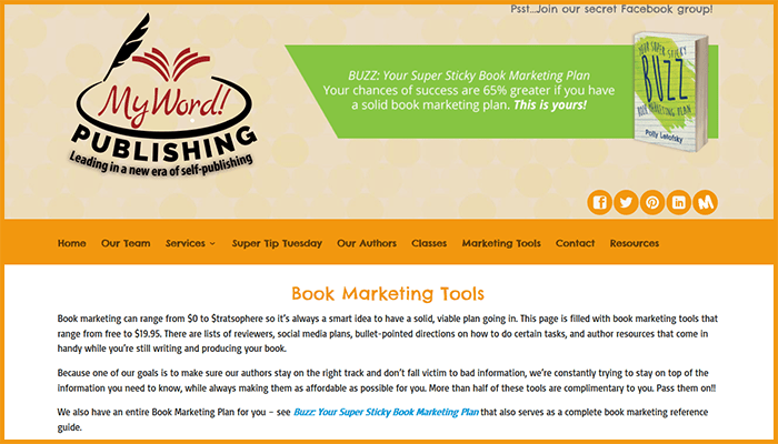 My Word! Publishing Website