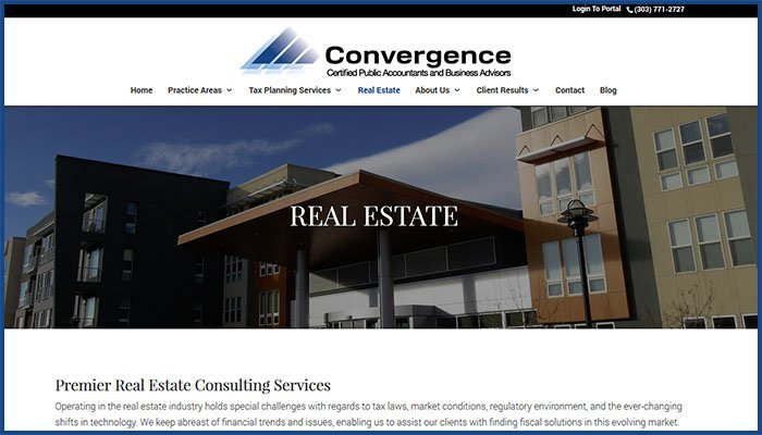 Convergence CPA Website
