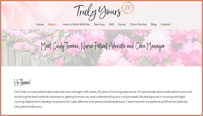Truly Yours Website