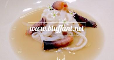 Calamares y percebes con su fondo picante y fino Panesa