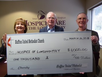 BUMM donation to Hospice of the Lowcountry