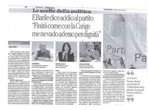 Luigi Barile Addio al PD Repubblica