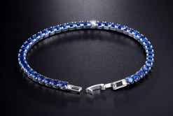 UMODE New CZ Cubic Zirconia Dark Blue Neat Tennis Bracelet For Women New Year s Gifts