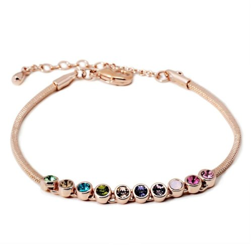 ZHOUYANG Top Quality Multicolour Exquisite ball Rose Gold Color Bracelet Austrian Crystals Wholesale ZYH ZYH ZYH