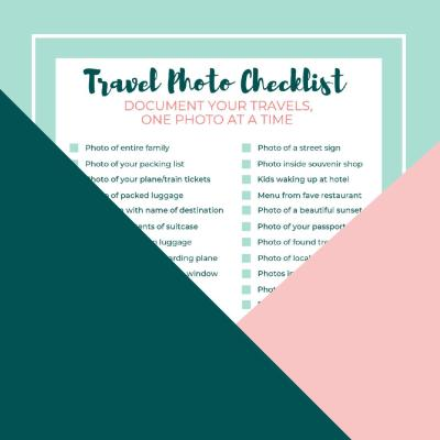 Travel Photo Checklist Free Printable