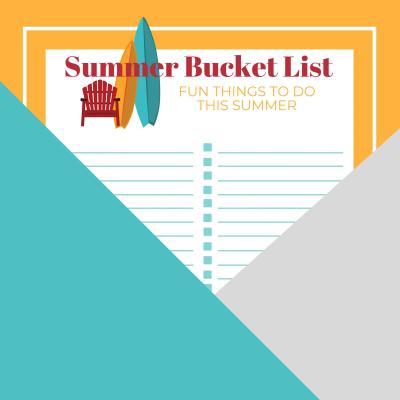 Summer Bucket List Checklist Free Printable
