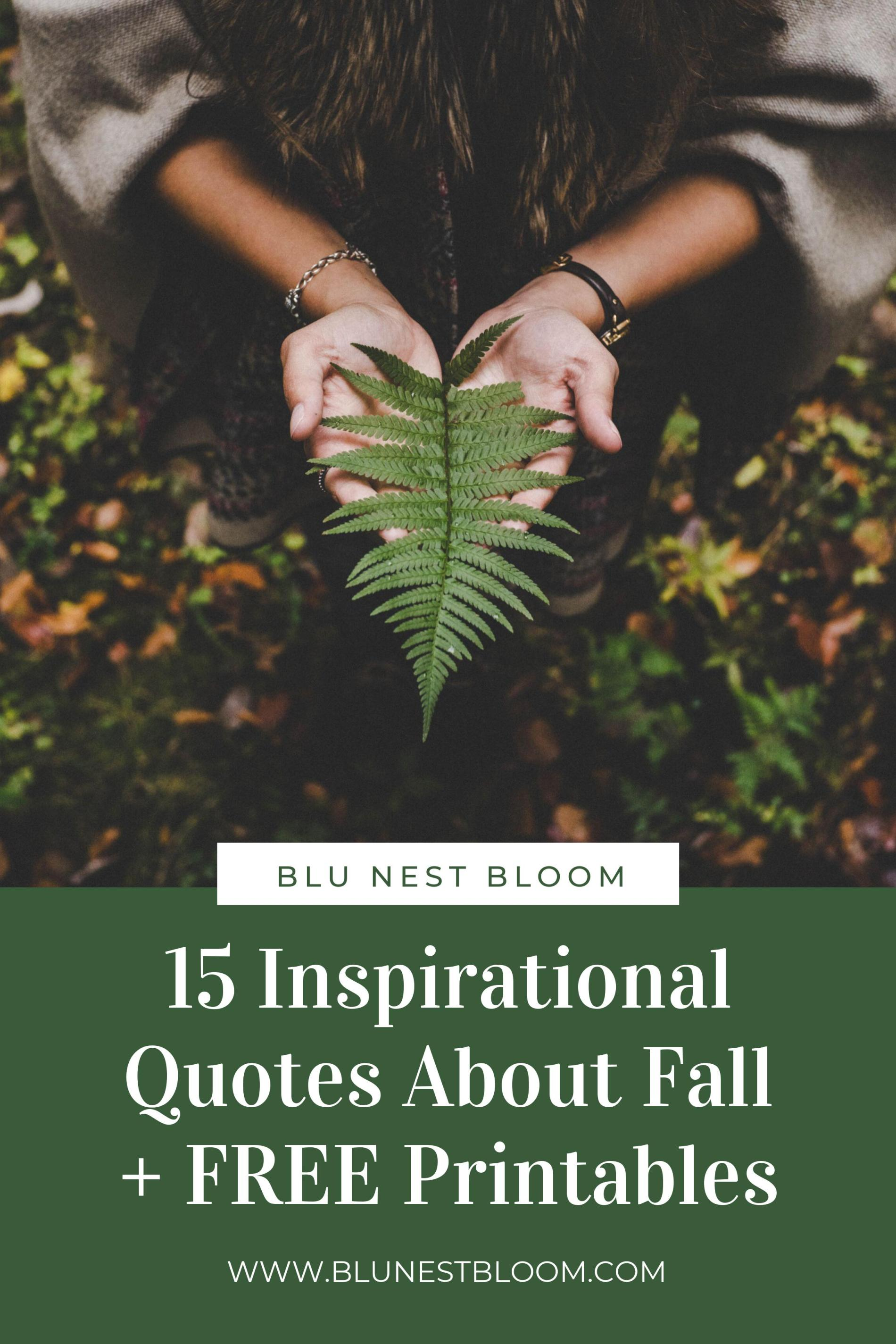 15 Inspirational Quotes About Fall