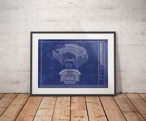 Levi's Stadium vintage blueprint poster