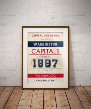 Capital One Arena vintage subway poster