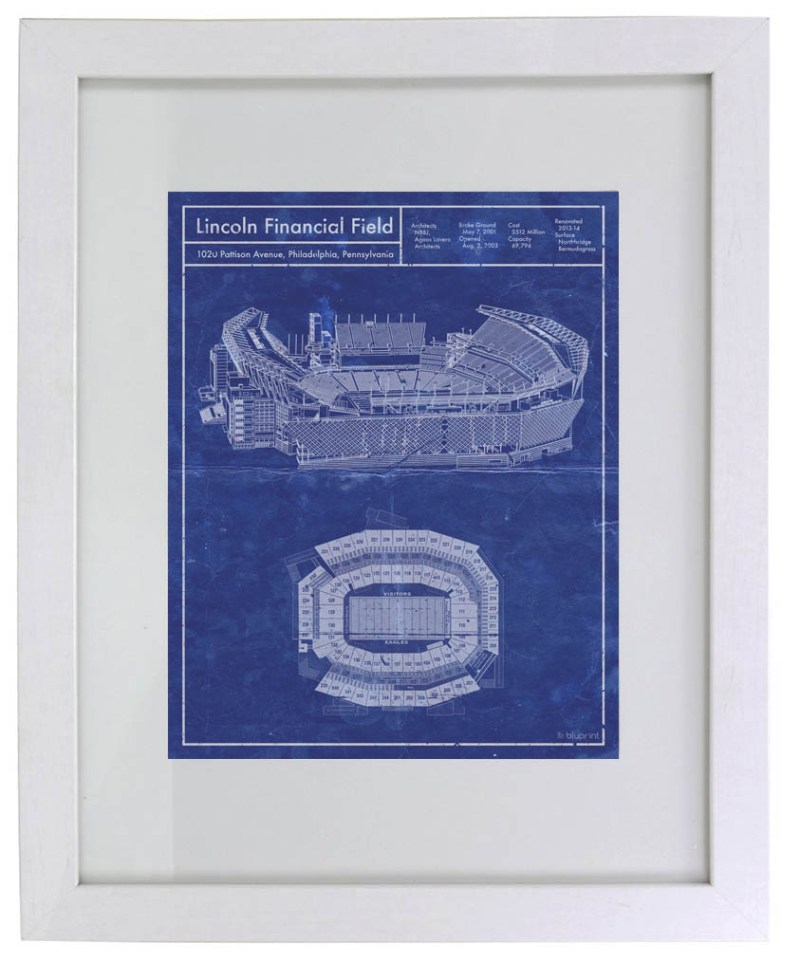 Lincoln Financial Field vintage blueprint