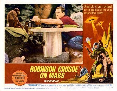 Robinson Crusoe on Mars lobby card