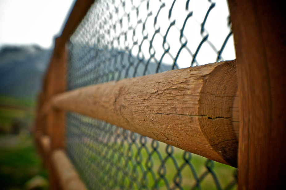 Chain Link Wood Grain