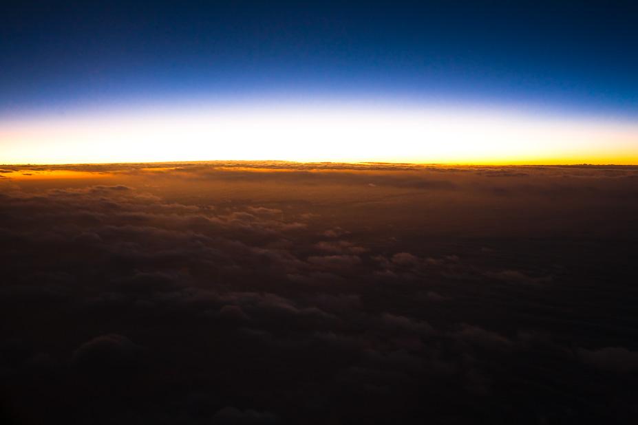 Dusk While Flying