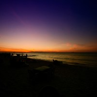 Isla Mujeres Filtered Sunset | Blurbomat.com