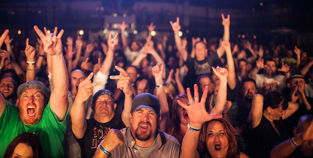 Stretch Armstrong Swim Herschel Swim Reunion Show Crowd