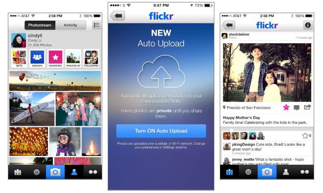 Flickr app for IOS updated