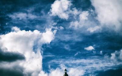 Lantern Under Clouds
