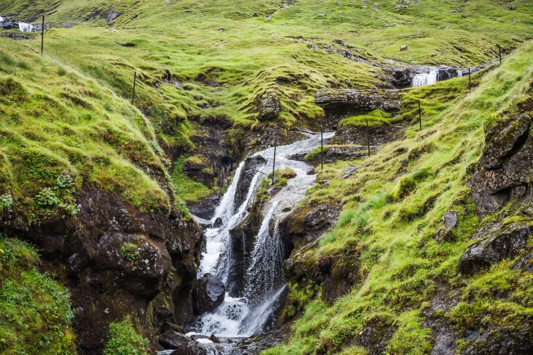 Detail of the waterfall shot near Kaldbaksbotnur, Faroe Islands. by Jon Armstrong for Blurbomat.com.