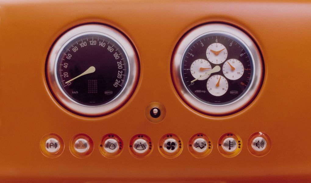 Dashboard detail of Marc Newsom's 021C concept car