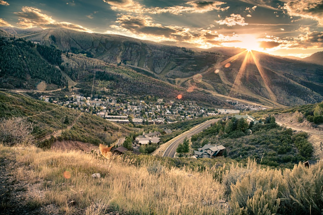 HDR shot of the last moments of sun over Park City, Utah. September, 2015.
