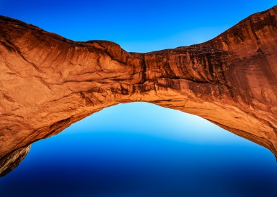 Looking up under one of the Double Arches, Arches National Park | Blurbomat.com