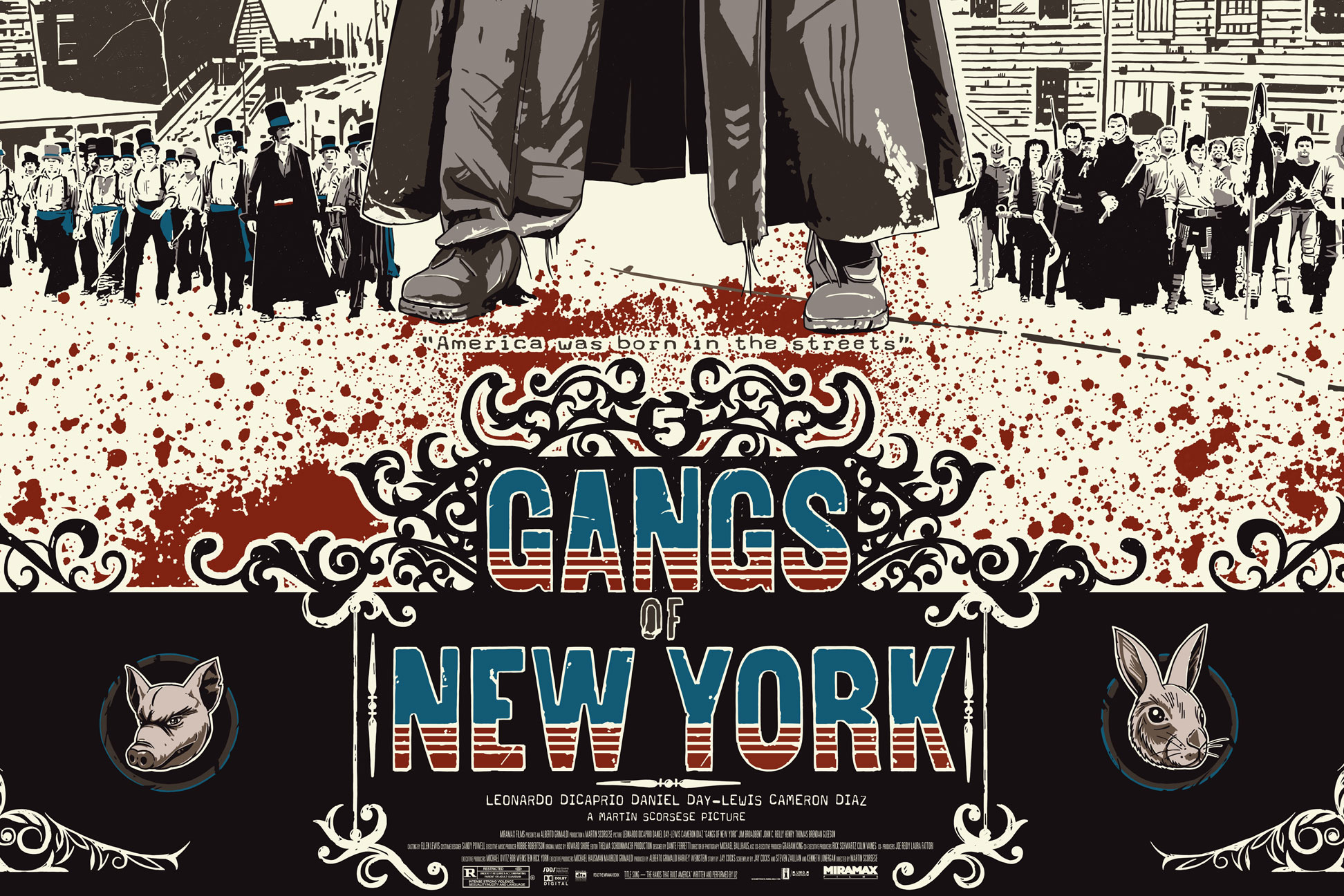 Poster Posse Member The Dark Inker Turns In A Brilliant Commissioned Piece For Scorsese S Gangs