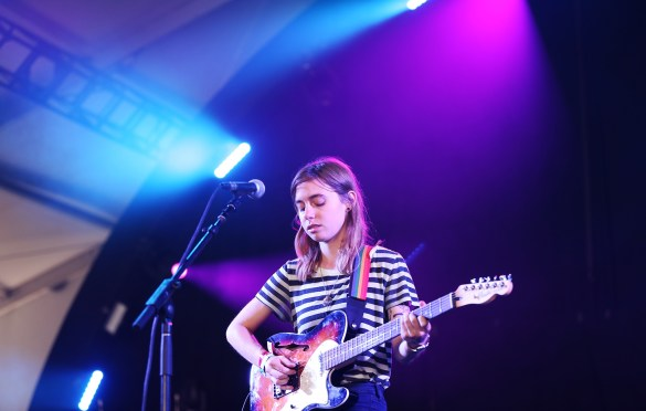 Julien Baker 8/28/16 @ Fuck Yeah Fest. Photo by Elli Papayanopolous for FYF Fest. Used With Permission By www.BlurredCulture.com.