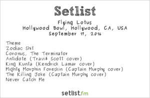 Flying Lotus @ Hollywood Bowl 9/17/15. Setlist.
